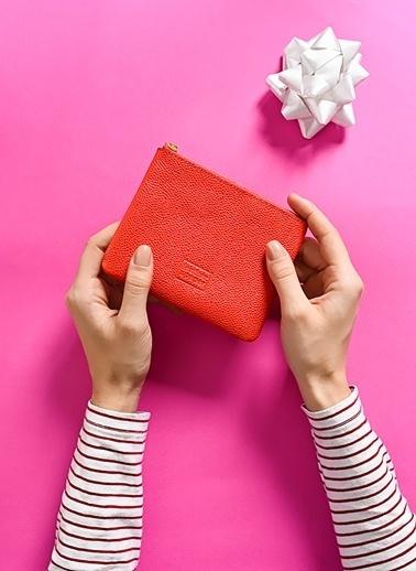 Leather & Paper Deri Mini Çanta Kırmızı